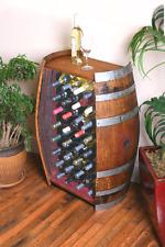 32 Bottle Oak Wine Barrel Cabinet Wine Bottle Rack By Wine Barrel Creations