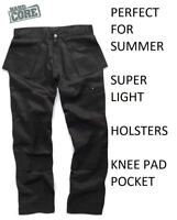 Hard Core Tough Grit Black Trade Trouser Summer Cargo Holster Lightweight SALE !