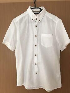 Herren Hemd S Weiß Esprit