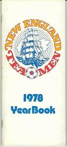 1978 New England Team Men Yearbook Media Guide, soccer, NASL