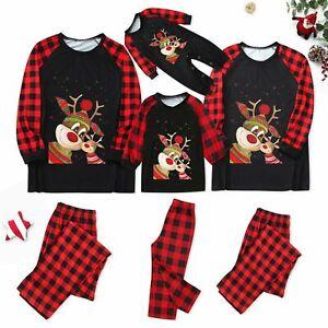Christmas Family Matching Adults Pyjamas Xmas Nightwear Pajamas PJs Set Festive