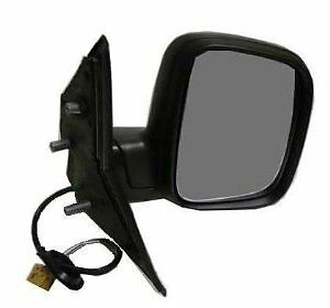 VW T5 TRANSPORTER 2003-2010 BLACK ELECTRIC DOOR WING MIRROR DRIVERS SIDE O/S