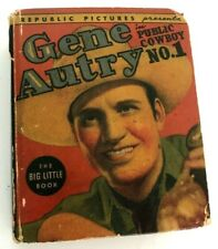 1938 1st GENE AUTRY Big Little Book PUBLIC COWBOY NO 1 Republic Pictures Whitman