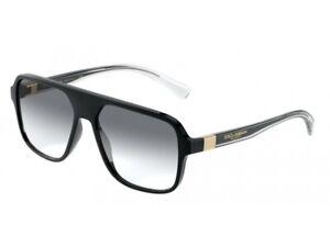 Dolce & Gabbana Sonnenbrille DG6134  675/79 BLACK Schwarz grau