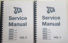 JCB JS200 JS210 JS220 JS240 JS260 SERVICE MANUAL REPRINTED COMB BOUND