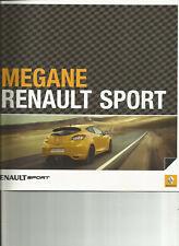 RENAULT SPORT MEGANE 3 RS - 2011 / catalogue brochure prospekt katalog