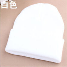 Men's Women Beanie Knit Ski Cap Hip-Hop Blank Color Winter Warm Unisex Wool Hat