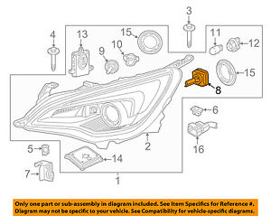 Buick GM OEM 16-18 Cascada-Headlight Headlamp Bulb 19352020