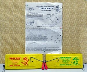 Vintage Set of 2 Yellow Bird Side Planers ~ Port & Starboard ~ With Instructions