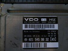 MERCEDES C E CLASS W210 W202 MAIN ECU 0215459832 2.0 L TESTED 1994-2002 100%OK