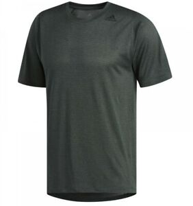 Men's New Adidas Freelift Fitted Running T-Shirt Top - Fitness Gym - Green