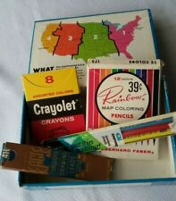 Vintage Cream Of Wheat School Box With Art Supplies
