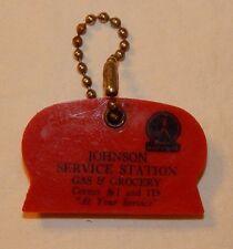 Vintage Marathon Gas Station Oil Co advertising keychain & ice scrapper