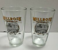 Millrose Brewing Company Pint Glasses Illinois 2 Glasses Included Good Condition