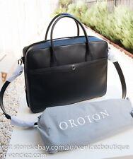 BNWT OROTON RRP$695 Melanie Texture Briefcase Work Tote Bag Satchel Black