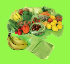 New Fresh Food Storage, Fruit, Vegetable & Fridge Storage Green Reusable Bags UK