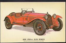 Vintage Motor Cars Postcard - 1932 1750cc Alfa Romeo Car   DR66