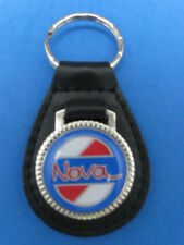 CHEVY NOVA AUTO LEATHER KEYCHAIN KEY CHAIN RING FOB #193