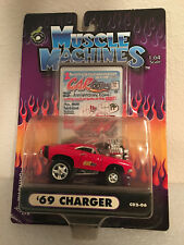 MUSCLE MACHINES 1:64 SCALE DIECAST MOPAR 1969 DODGE CHARGER - RED