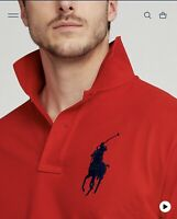 Polo Ralph Lauren Men's Short Sleeve Classic Fit Big Pony Logo Polo Shirt