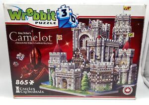 Wrebbit 3D King Arthur's Camelot 3D Puzzle 865 Piece COMPLETE & UNUSED
