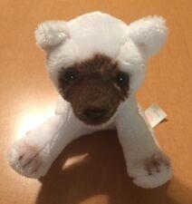 """Russ Tiny White Siamese Cat Plush 6"""""""