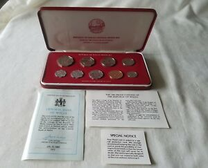 Franklin Mint  Republic of Malta Proof Set 80' Certificate Auth. Limited Edition