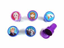 5PCS DISNEY FROZEN SELF INK STAMPS STAMPER KIDS STATIONERY PARTY BAG NOVELTY #B