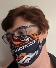 Denver Broncos Face Mask - All Sizes   Handmade