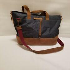 Timbuk2 Hyde Tote Messenger Bag Duffel Nylon Leather Adjustable Shoulder Strap