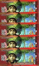 LOT Equatorial Territories, Amazonas (Brazil), 5 x 5 Francs, POLYMER, 2014, UNC