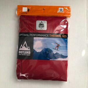 OUTLAND Womens Optimal Performance Base Layer Set size 3XL Red Soft Fleece NWT