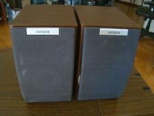 Aiwa SX-M200 Vintage Bookshelf  3 Way Speaker System Set Of 2 Built In Subwoofer