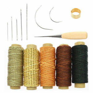 14X LEATHER CRAFT SEWING PUNCH AWL TOOL KIT SET HAND CARVING WORKING STITCHING