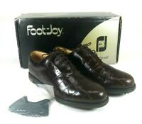 Footjoy 99238 Europa Collection Golf Shoes Brown Lace Up Soft Cleat Womens 7.5 M
