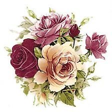 Pink Yellow Rose Bouquet Flowers Select-A-Size Waterslide Ceramic Decals Bx