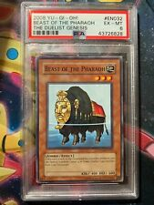 2008 YU-GI-Oh! the Duelist Genesis EN032 Beast of the Pharaoh *ERROR*PSA 6 EX-MT