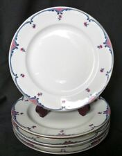 5 assiettes plates en porcelaine de Limoges Lanternier à Barbeaux