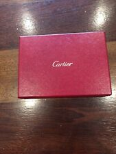 Genuine Cartier Red Leather covered Empty Gift Box 7.5 x 5.5