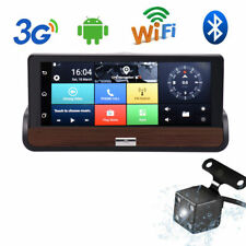 "Android 7"" GPS Navigation Dual Lens HD 1080P Auto Kamera Rearview Dashcam DVR DE"