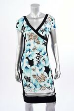 Joseph Ribkoff Turquise/Black Lace Floral Cocktail Dress US 8 UK 10 NEW 171696