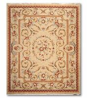 8' x 10' Karastan look & quality French Aubusson Area Rug 100% Wool pile