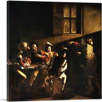 ARTCANVAS The Calling of Saint Matthew 1600 Canvas Art Print by Caravaggio