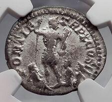 CARACALLA River-God Captives 207AD Rome Ancient Silver Roman Coin NGC i60190