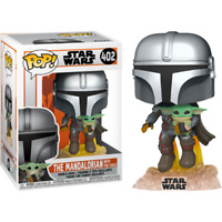 Star Wars: The Mandalorian - The Mandalorian with The Child (Baby Yoda) Flying P