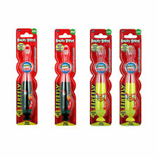 Lot 4 FIREFLY Angry Birds Child Soft Toothbrushes Toothbrush 1-min timer BK YL