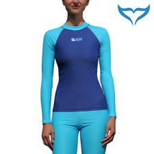 80aa05fcf55a4a iQ UV 300 Shirt Slim Fit Damen XS S M L XL turquoise navy türkis blau  Longsleeve