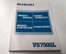 1985   SUZUKI    VS750GL    Motorcycle     Orig Owners Manual