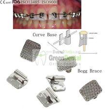100/PK Begg Brace dental orthodontic molar band buccal tub typodont power chain