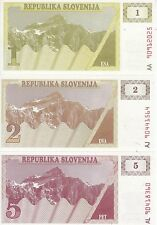 SLOVENIA SLOVENIJA 1 2 5 TOLARJEV 1990 FDS UNC
